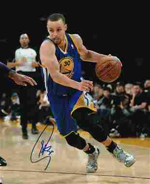 STEPHEN CURRY 8 x 10 Autographed Photograph