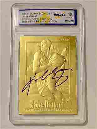 KOBE BRYANT 23k Gold Signature Edition Rookie Card