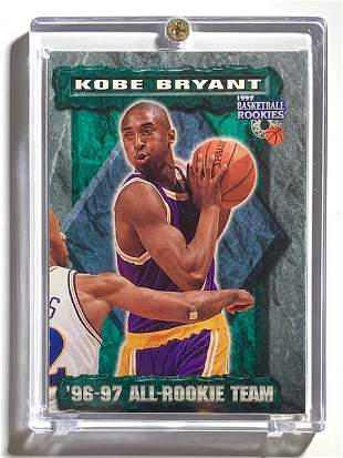 1997 Scoreboard KOBE BRYANT Rookie Year Basketball Card