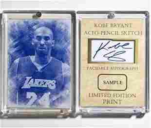KOBE BRYANT Pencil Sketch Sample Basketball Card