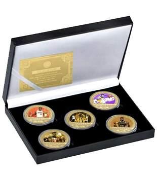 LEBRON JAMES Gold Clad Coin Collection with Box & COA