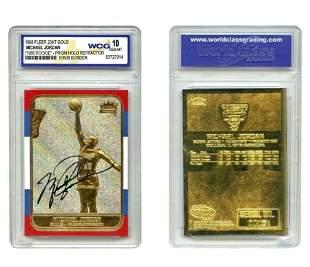 MICHAEL JORDAN Gold Prism Holo Refractor Rookie Card