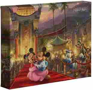 Thomas Kinkade Mickey & Minnie Mouse Canvas Art COA