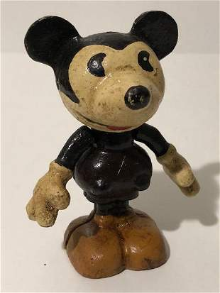 Disney Cast Iron Mini Toy MICKEY MOUSE w/Rotating Arms