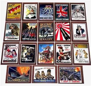 18 Rare WW2 Poster and Propaganda Trading Cards/A