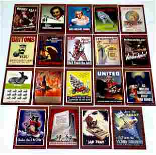 19 Rare WW2 Poster and Propaganda Trading Cards/B