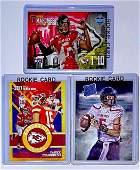 Lot of 3 PATRICK MAHOMES Custom Rookie Football Cards/A