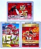 Lot of 3 PATRICK MAHOMES Custom Rookie Football Cards/F