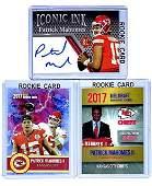 Lot of 3 PATRICK MAHOMES Custom Rookie Football Cards/D