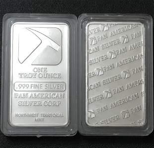 1oz PAN AMERICAN SILVER Encapsulated Silver Bar