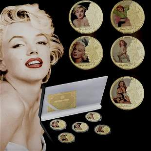 MARILYN MONROE Gold Clad Coin Collection with COA