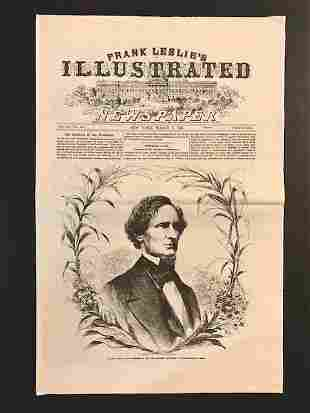 1861 Civil War/Abraham Lincoln Inauguration Newspaper