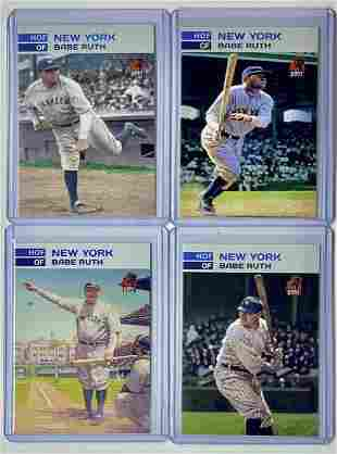 Lot of 4 Limited Edition GOAT Babe Ruth Baseball Cards
