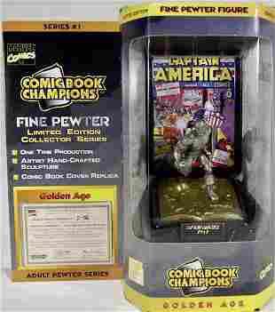 Marvel Comics 1941 CAPTAIN AMERICA Pewter Figurine