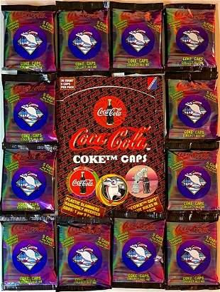 Lot of 12 Original Coca-Cola Coke Caps in Sealed Packs