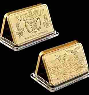 1935 German Deutsche Luftwaffe 1oz Gold Clad Bar