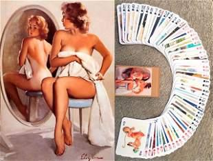 GIL ELVGREN Risque Pinup Girl Art Playing Cards Deck