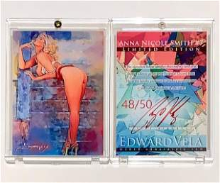48/50 Artist Signed Playboy ANNA NICOLE SMITH Art Card