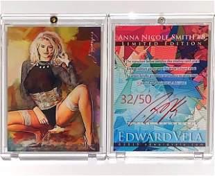 32/50 Artist Signed Playboy ANNA NICOLE SMITH Art Card