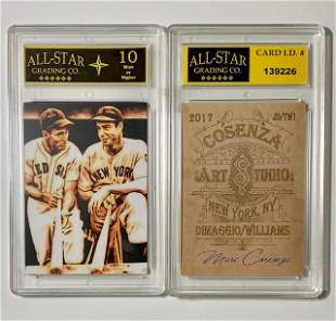 DiMaggio/Williams Signed Studio Art Baseball Card