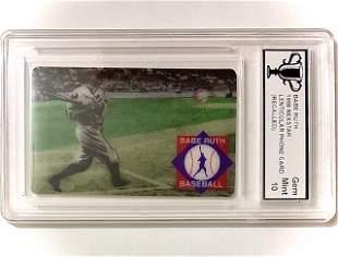 Rare Re-Called 3D-Motion BABE RUTH Baseball Card