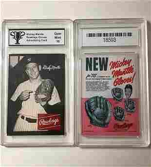 MICKEY MANTLE Advertising Baseball Card