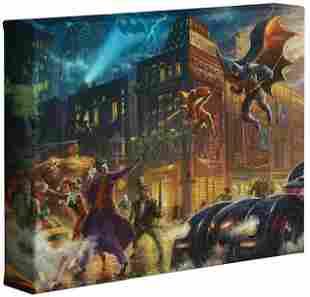 Genuine Thomas Kinkade BATMAN & ROBIN Canvas Art COA