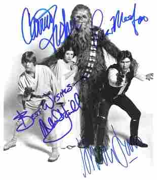 STAR WARS Cast Autographed 8 x 10 Photograph