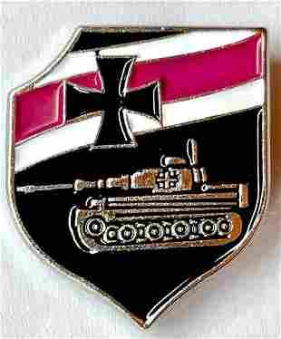 WW2 German Luftwaffe Enameled Tank Operator Lapel Pin