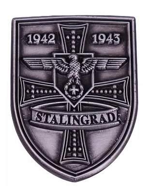 Dated 1944-1945 WW2 German Shield Uniform Pin