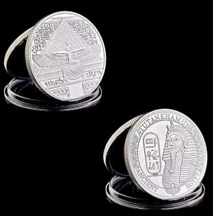 Ancient Egypt KING TUT 1oz Silver Clad Coin