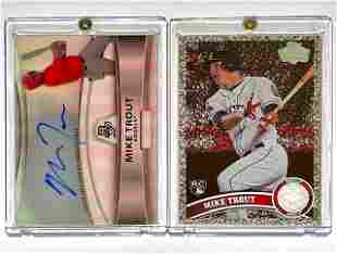 2 Mike Trout Autographed & Rookie RP Baseball Cards