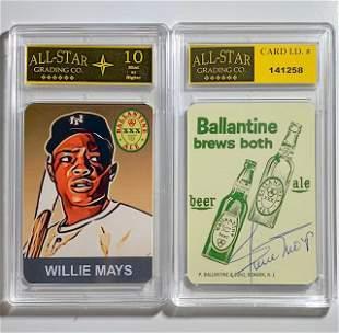 WILLIE MAYS Beer Advertising Baseball Card