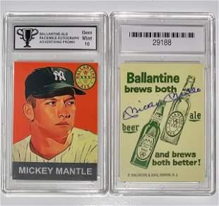 MICKEY MANTLE Beer Advertising Baseball Card