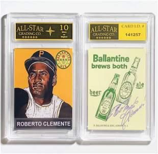 ROBERTO CLEMENTE Beer Advertising Baseball Card