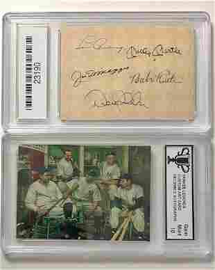Gem 10 NY YANKEE Legends Custom Art Baseball Card