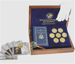 Founding Fathers of America 24k Gold Clad Coin Collecti