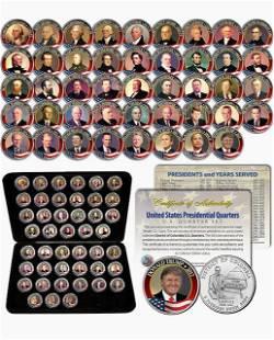 45 Washington DC Presidential Quarter Collection w/COA