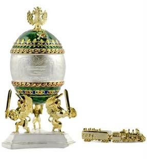 FABEREGE Royal Russian Trans-Siberian Railway Egg