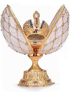FABERGE Enameled & Jeweled Egg with Coronation Crown