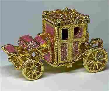 FABERGE Enameled Royal Coronation Coach Trinket Box