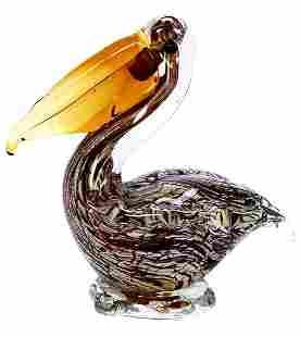 MURANO Multi Colored Art Glass Pelican / Great Piece