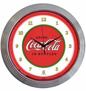 Working COCA-COLA 1910 style Diner Neon Clock