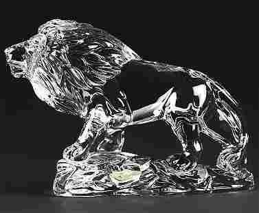 Wonders of the Wild German Lead Crystal LION Figurine