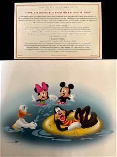 Disney Mickey and Friends Lithograph DON WILLIAMS w/COA