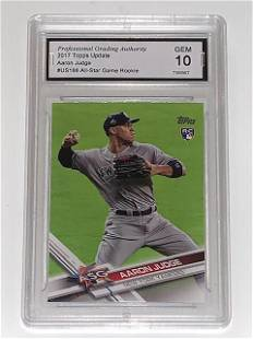 Gem 10 Aaron Judge Topps Update Rookie Baseball Card