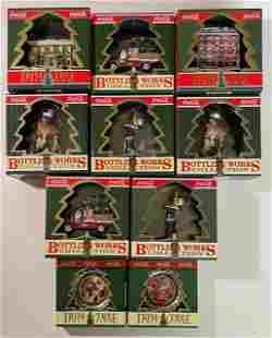 Lot of 10 Vintage COCA-COLA Christmas Ornaments