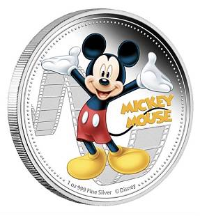 Walt Disney MICKEY MOUSE 1oz Clad Silver Coin