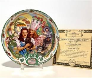 WIZARD of OZ Porcelain Music Box Decorative Plate w/COA