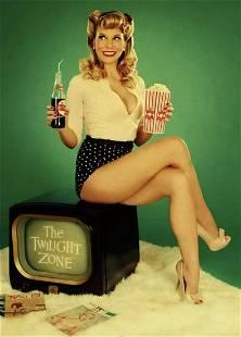 Vintage World War II Sexy Pin up Girl Canvas Art